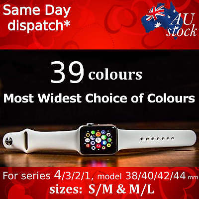 AU5.90 • Buy Apple Watch Series 5/4/3/2/1 Sports Silicone Bracelet Strap Band IWatch 38/42 Mm