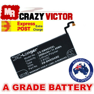 AU15.95 • Buy Replacement Battery For Samsung Galaxy Note 5 SM-N920R4 N920T N920V N920W8