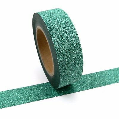 AU5 • Buy Glitter Tape Green Washi 10 Metres