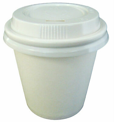 AU43.95 • Buy White 4oz Coffee Cups And Lids 250 Sets Single Wall 118ml Paper  Disposable Bulk