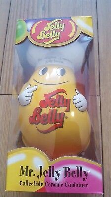 Mr. Jelly Belly Collectable Ceramic Container - Yellow Chef Bean Jar - Very Rare • 99£