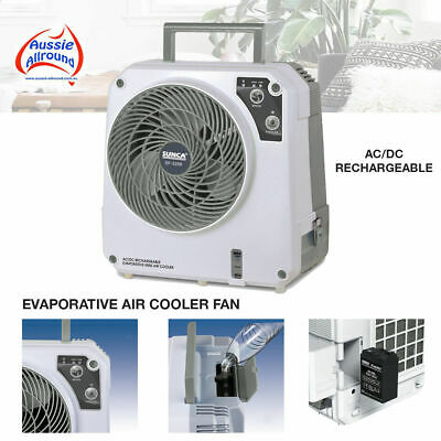 AU129 • Buy 12 Volt Rechargeable Evaporative Portable Cooler Fan Air Con Caravan Tent AC/DC