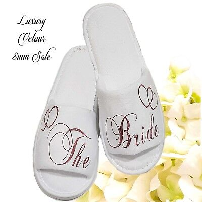 £5.95 • Buy Bride Bridesmaid Bridal Slippers Wedding Sparkling Red Any Role