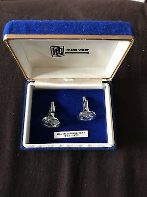 Silver Jubilee Cuff Links • 18£
