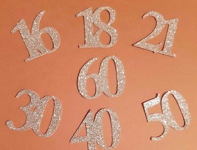 Age Number Die Cut Out Shape Toppers, Birthday Anniversary Wedding Cards Cakes  • 1.99£