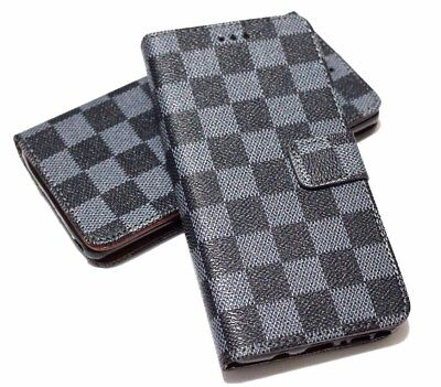 $ CDN11.93 • Buy  For SAMSUNG GALAXY NOTE 8 - Book Style Gray Black Plaid Case Cover Card Wallet