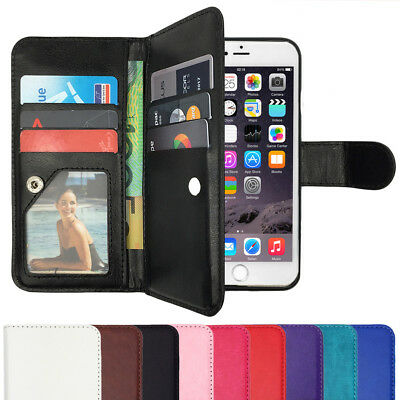 AU9.75 • Buy Leather Flip Case Wallet Stand Gel Card Cover For Apple IPhone 8, 8 Plus, X 10