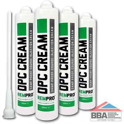 £30.99 • Buy Rempro 4 X BBA Damp Proofing Course Cream - DPC Wall Injection Treatment Control