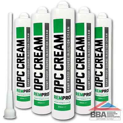£36.99 • Buy Rempro 5 X BBA Damp Proofing Course Cream - DPC Wall Injection Treatment Control