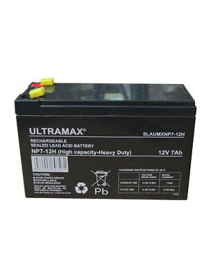 NP7-12H 12v 7Ah DEEP CYCLE UltraMax Lead Acid Rechargeable Battery NP9-12 NP6-12 • 15.99£