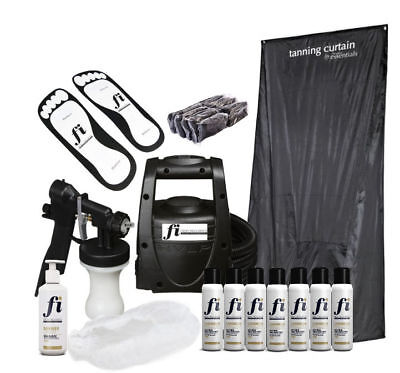 TS20 HVLP Professional Spray Tanning Kit Curtain Solution & Consumables • 149£
