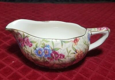 $ CDN38.05 • Buy  Royal Winton Grimwades MAYFAIR  GRAVY BOAT / CREAMER  Floral Chintz GOLD TRIM