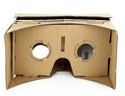 AU9.90 • Buy Google Cardboard Virtual Reality VR Headset Kit 3D DIY Kit  NFC Tag Lens Head