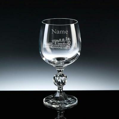 £22.99 • Buy Personalised Engraved STEAM TRAIN Wine Glass 2 Sizes FREE ENGRAVING Gift