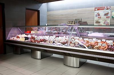Maxi Inox Serve Over Counter 7.5 M Chiller Meat Dairy Fridge Deli Counter • 7,900£