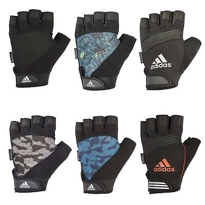 £10.99 • Buy Adidas Half Finger Performance Weight Lifting Gloves Mens Training Gym Workout