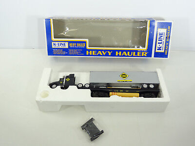 K-Line O Scale Heavy Hauler Set Erie Flat Car With Die Cast Tractor Trailer Load • 17.34£