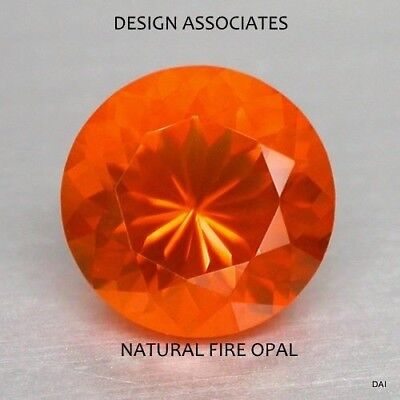 £3.88 • Buy Mexican Fire Opal 5 Mm Round Cut All Natural Beautiful Color