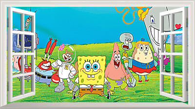 SpongeBob SquarePants Magic Window Wall Art Sticker Self Adhesive Vinyl Poster2* • 11£