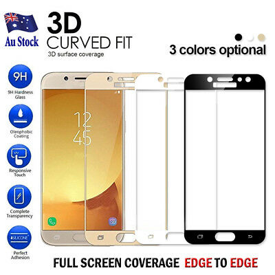 AU5.95 • Buy FULL COVER Tempered Glass Screen Protector For Samsung Galaxy J5 J7 J2 Pro 2018