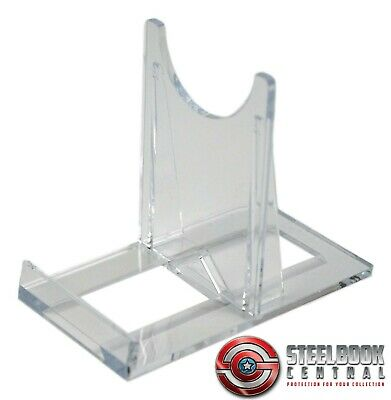 SS1 Blu-ray / DVD Steelbook Small Clear Plastic Display Stands (Pack Of 5) • 4.69£