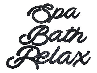 Spa Bath Relax Word Art Sign Home Decor Wall Hanging Cursive Script Typography • 11.47£