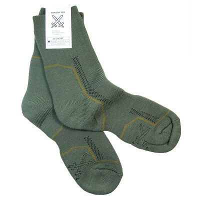 Czech Army Cushioned Thermal Socks - Thick Winter Military Hiking Walking New • 9.25£