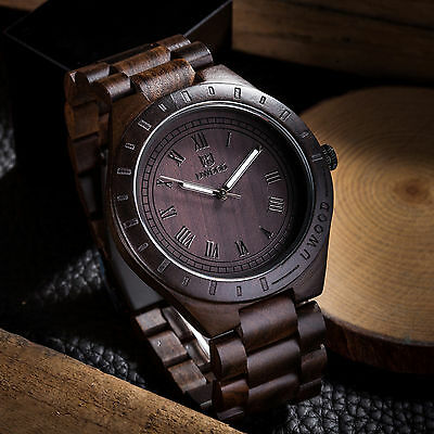 $ CDN31.23 • Buy Uwood Mens Wooden Watches Natural Sandal Wood Wristwatch Classy Solid Wood Watch