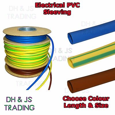 £1.50 • Buy Electrical PVC Sleeving Earth Brown & Blue 2mm 3mm 4mm Tubing Wire Cable