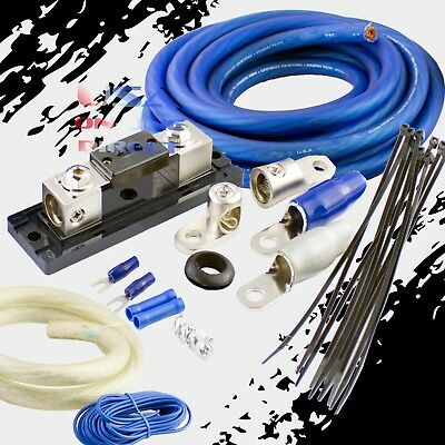 $94.99 • Buy 0 Gauge Awg 100% Ofc Copper Power Amp Kit Amplifier Wiring Install 4000 Watts Us