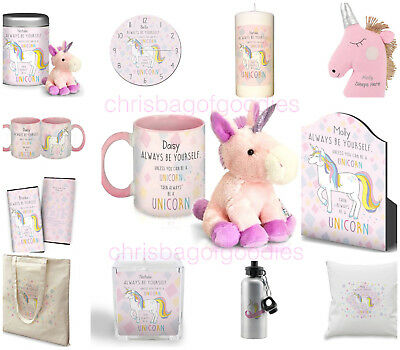 £14.35 • Buy PERSONALISED Pretty Pink UNICORN Gifts Presents For Her Birthday Christmas Ideas