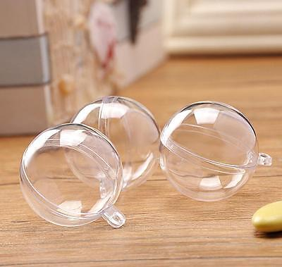 £1.69 • Buy DIY Clear Plastic Craft Ball Acrylic Transparent Sphere Bauble Christmas Gift