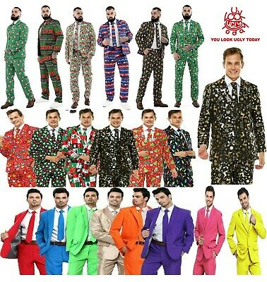 Men Adult Christmas Costumes Suit Funny Bachelor Party Suit Jacket With Tie Xmas • 24.99£