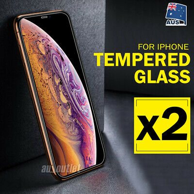 AU3.45 • Buy 2 X IPhone XS Max XR 8 7 Plus Tempered Glass Screen Protector Apple 6 6S Plus