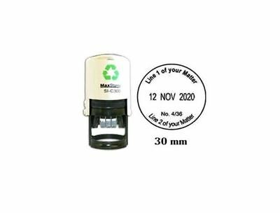 £21.99 • Buy Self Inking 30mm Round Custom Stamp With Date Personalised Office Stamper