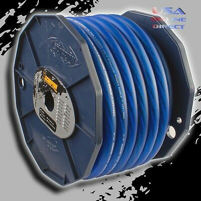 $185.99 • Buy 0 Gauge 50 Feet BLUE Power Ground OFC Wire Strand Copper  Marine Cable 1/0 AWG