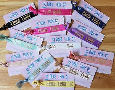 Bride Tribe Hen Party Wristband/Hair Tie Hen Night Accessories/Favours • 9.99£