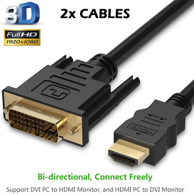 AU6.64 • Buy YellowPrice CL3-Rated Bi-Directional HDMI To DVI-D Cable Adapter Latest Standard