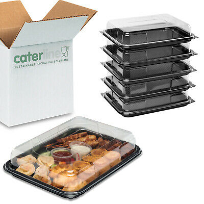 5 X Small Catering Platters/Trays & Lids | For Sandwiches, Buffets And Parties • 9.34£