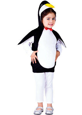 Kids Childrens Childs Girls Boys Penguin Pingu Zoo Bird Outfit Costume Age 2-6 • 12.50£