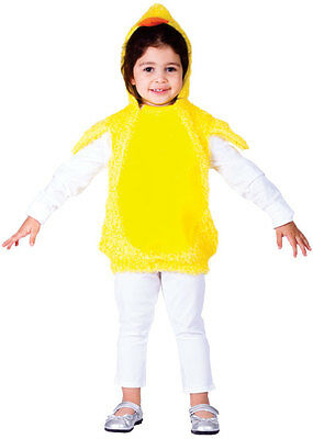 Kids Toddler Baby Chick Chicken Bird Farm Animal Easter Costume Outfit Age 2-4-6 • 11.95£