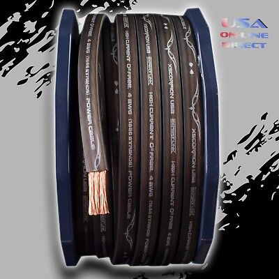 $39.99 • Buy 10ft. 1/0 AWG FLAT Gauge BLACK Power OFC Wire Stranded Copper Volt Marine Cable