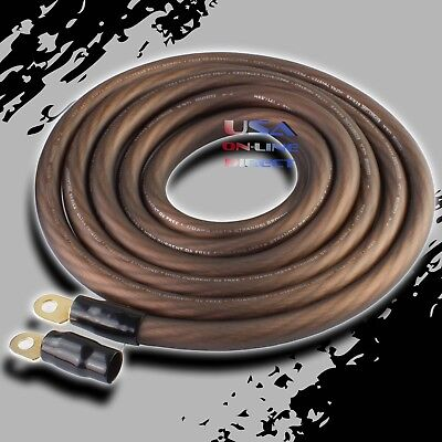 AU102.01 • Buy 0 Gauge 20ft  BLACK Power Ground OFC Wire Strand Copper  Marine Cable 1/0 AWG