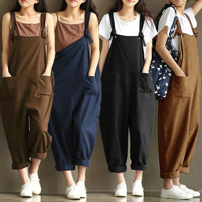 UK STOCK Women Harem Straps Dungaree Jumpsuit Trouser Overalls Playsuits UK8-24 • 9.43£