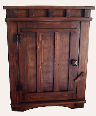 $183 • Buy Arts And Crafts Mission Apothecary Wood Wall Hanging Cabinet