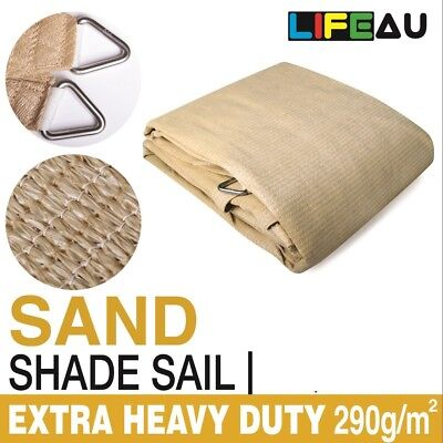 AU63.90 • Buy Extra Heavy Duty SAND Shade Sail 290gsm Rectangle Square Triangle