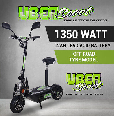 AU849 • Buy Electric Scooter BLACK UBERSCOOT 48V 1350W SILENT HUB - OFF ROAD TYRE MODEL