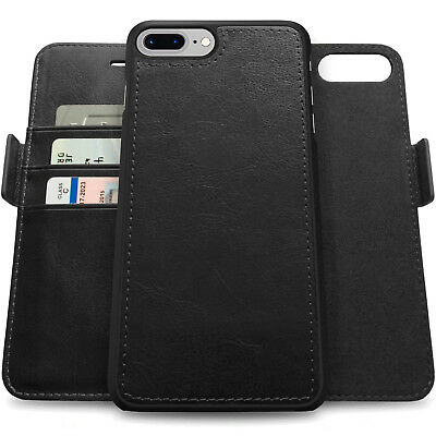 AU23.74 • Buy IPhone 8/7/6 Plus Genuine Leather Wallet Card Holder Thin Case Shockproof Cover