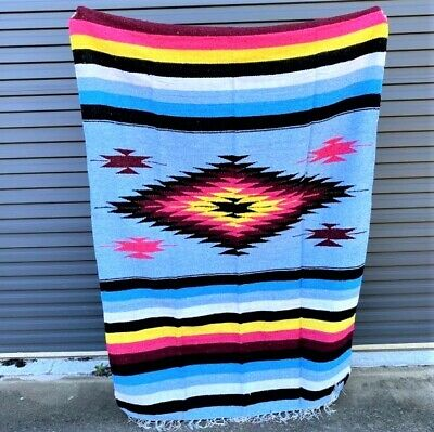 New Orange Centre Mexican Aztec Floor Rug Large Size Blanket Throw Yoga Bed Mexi • 52.12£