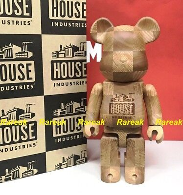 $1225.99 • Buy Medicom Be@rbrick Karimoku Wood House Industries Chess 400% Wooden Bearbrick